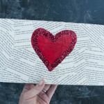 easy valentines day craft made using old book pages and mod podge 150x150 Crafts