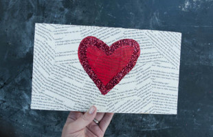 Easy Heart Canvas for Valentine's Day