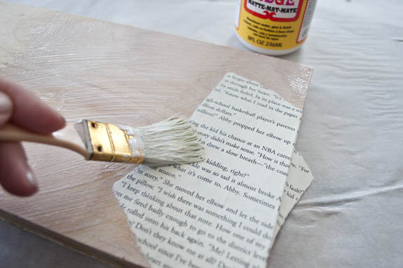 mod podge project for book lovers