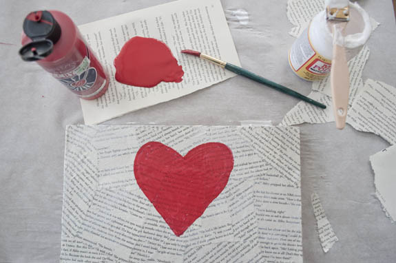 simple valentines day project using mod podge and paint