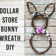 Dollar Store Bunny Wreath DIY