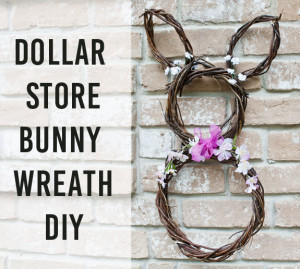 Dollar Store Bunny Wreath