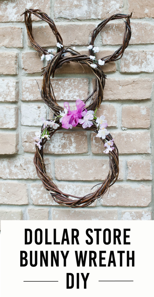 Easter Craft from the dollar store - DIY Bunny Wreath
