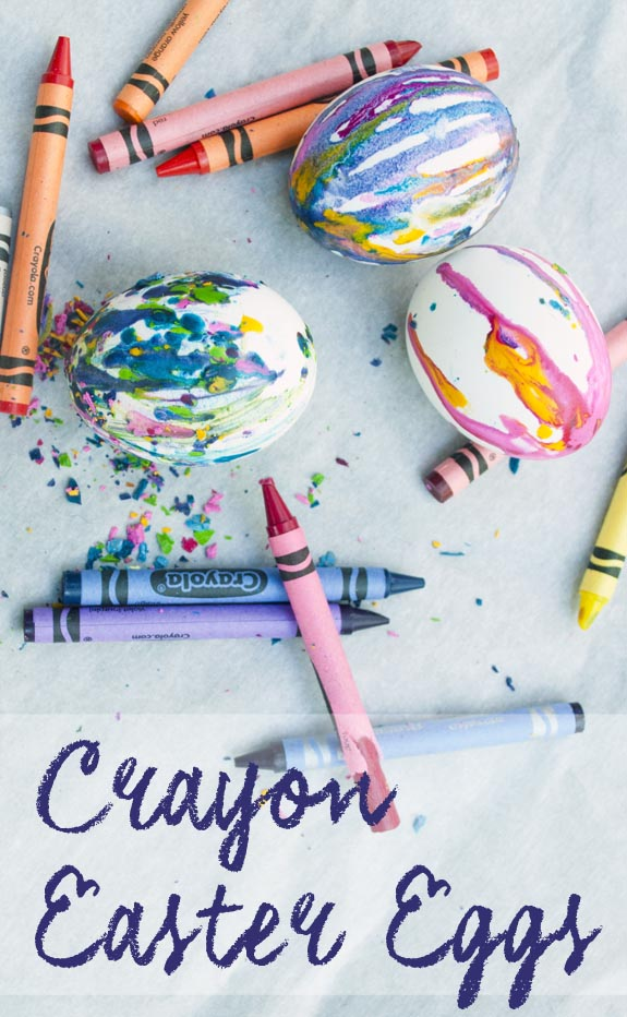 How to make easter eggs with crayons