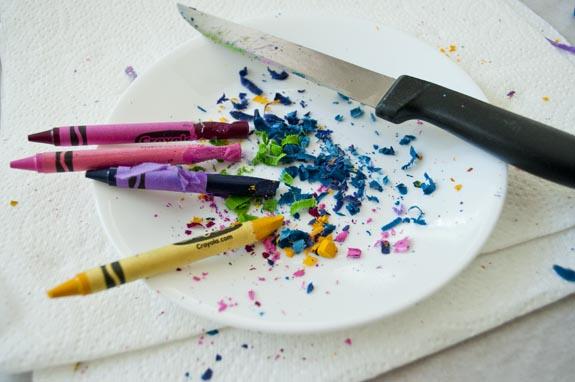 crayon shavings