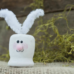 cute easter bunny craft - great Easter project