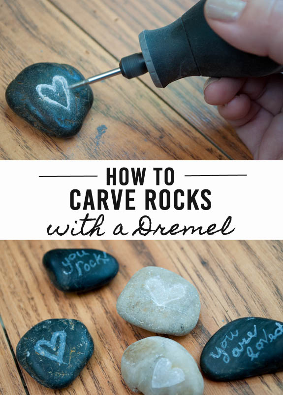 How to carve rocks with a Dremel! Great DIY