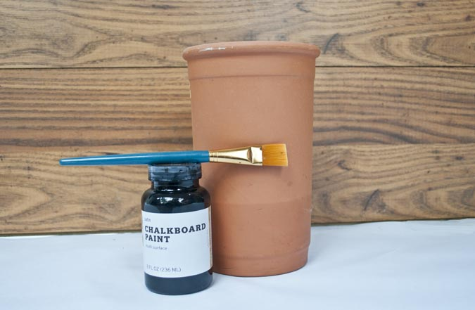 How to make a chalkboard utensil crock or vase