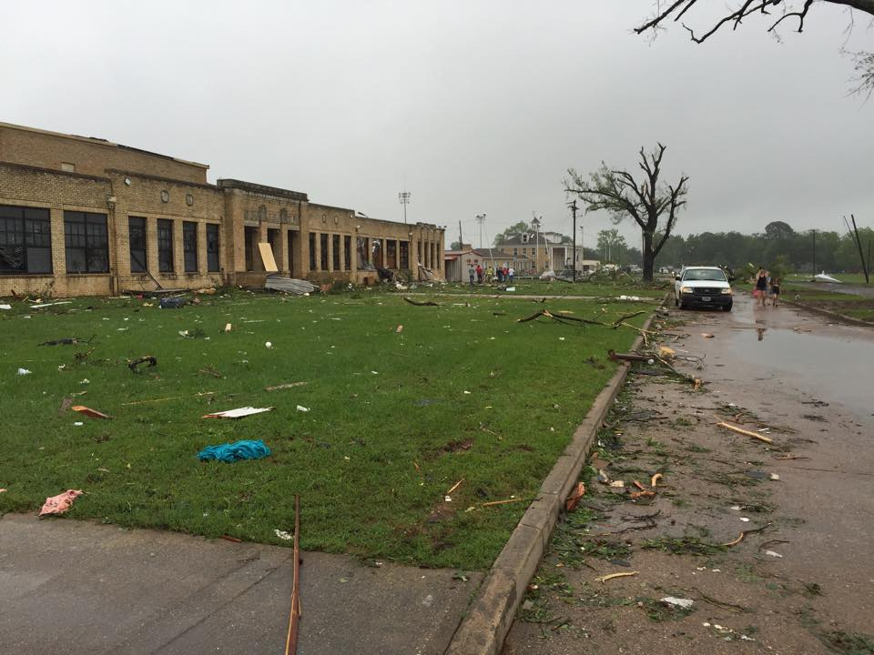 Van Texas Elementary School after tornado