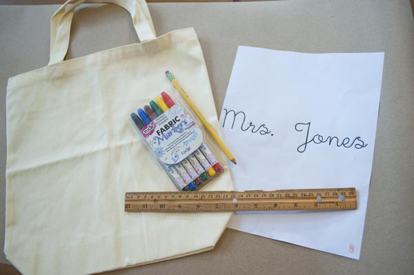 How to make simple reading tote bags, great for library or teacher gifts