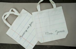 Easy Notebook Paper Totes!