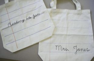 A Quick And Easy Back To School Style Craft – Notebook Paper Tote Bags