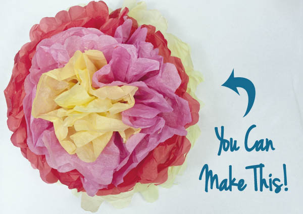 You can easily make these fast tissue paper flowers - great for party decorations