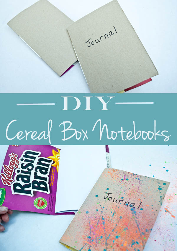 How to diy a notebook using cereal boxes! how to