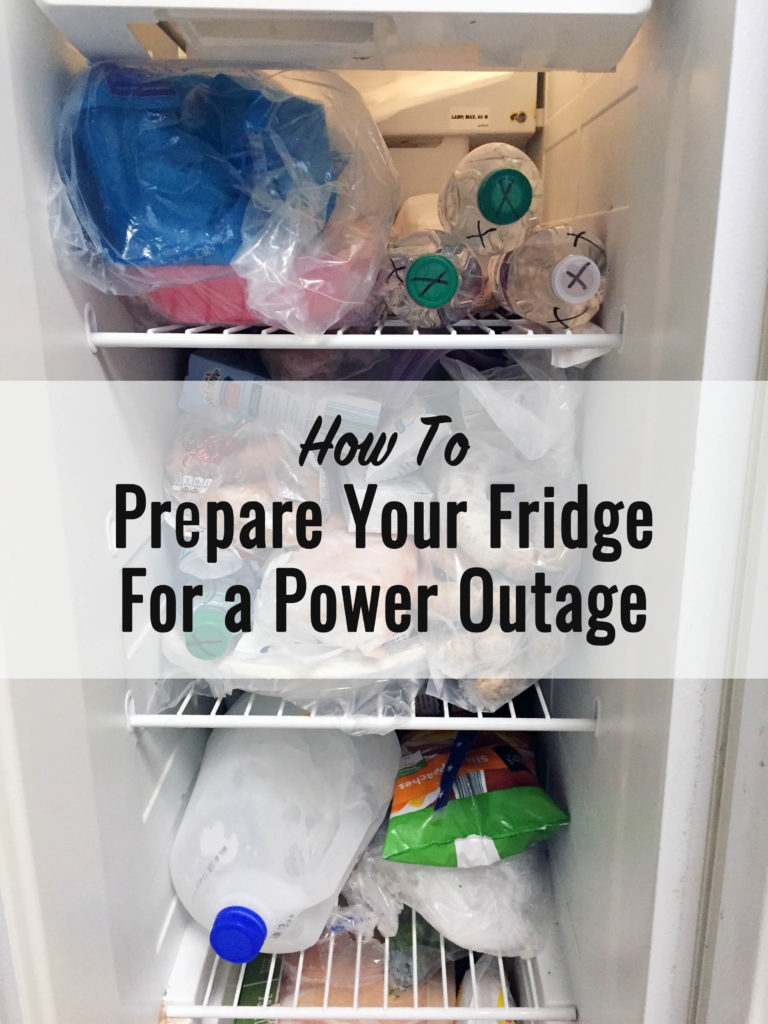 How to prepare your fridge for a power outage