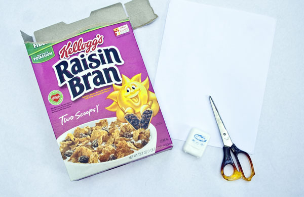 cereal box journal - recycled craft ideas
