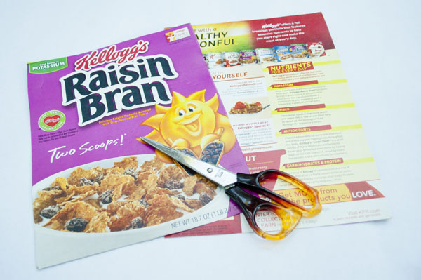 how to make a notebook using cereal boxes