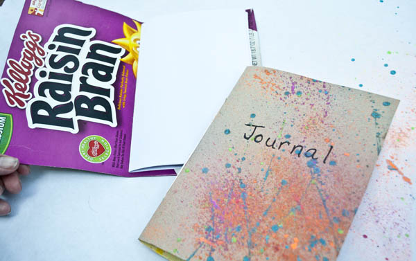 how to make notebooks using cereal boxes - fun summer project