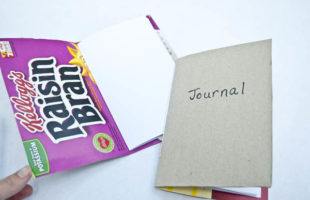 Make Your Own Notebooks With Cereal Boxes!