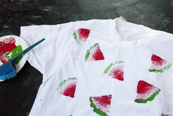 How to make a watermelon print shirt for summer