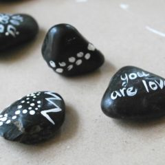 Painted black rocks