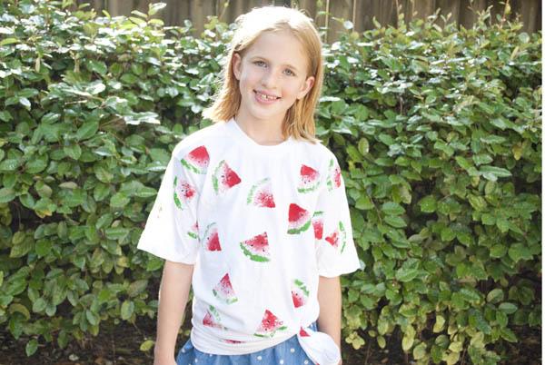 how to make a watermelon print shirt