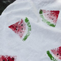 watermelon prints using sponges