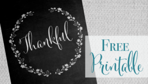 Thankful Chalkboard Print – Free Printable