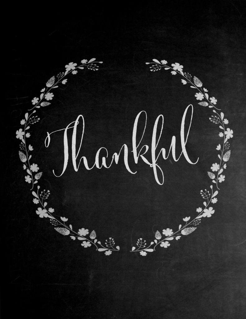 Thankful Chalkboard Print - Free Printable Download