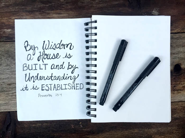 Using a sketch journal for illustrated faith