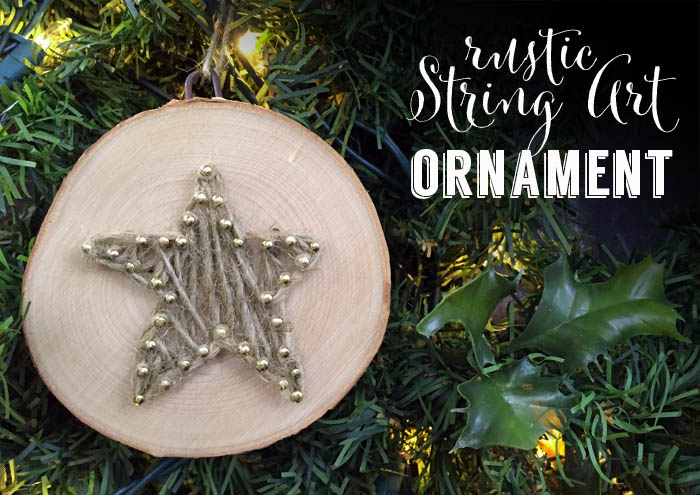 how to make string art ornament using twine for a rustic themed christmas tree - Rustic Christmas Ornaments