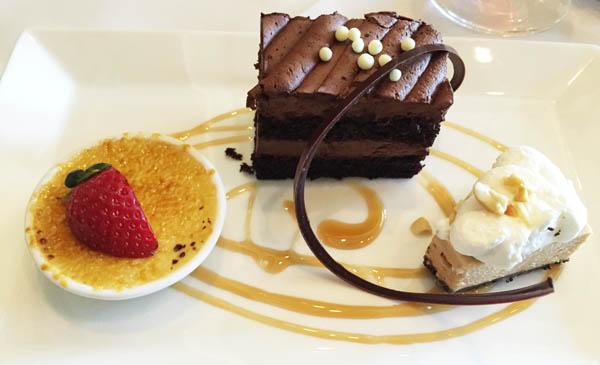 dessert at Robards Steakhouse