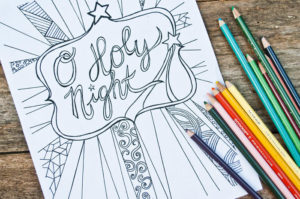 O Holy Night – Free Adult Coloring Sheet Printable