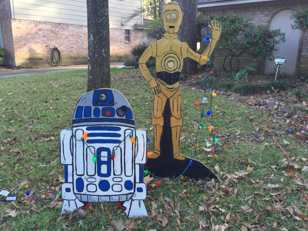 Star Wars Christmas yard decorations