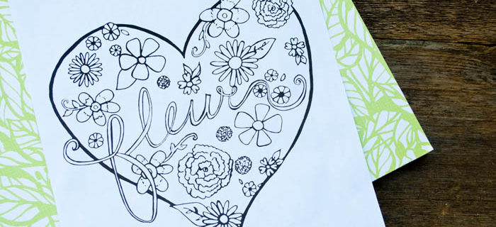 Free Printable Floral Coloring Page – Plus Tips On Blending Colors Using Colored Pencils!