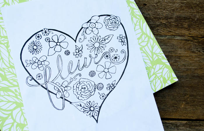 Free adult coloring sheet with flowers