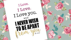 Pride and Prejudice Free Printable – Mr. Darcy's I Love You