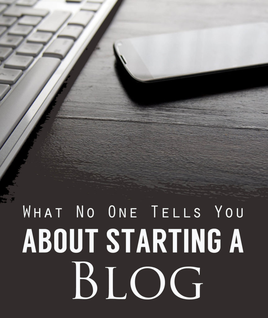 What no one tells you about starting a blog copy