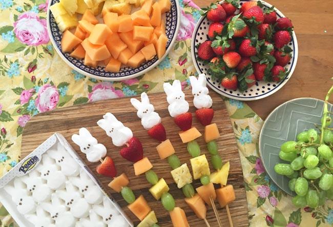 Simple Easter snacks with peeps