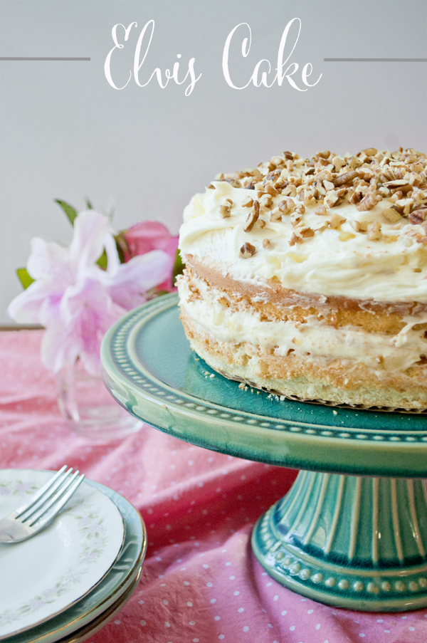 Elvis Cake Recipe - a sweet yellow cake with pineapple and cream cheese icing