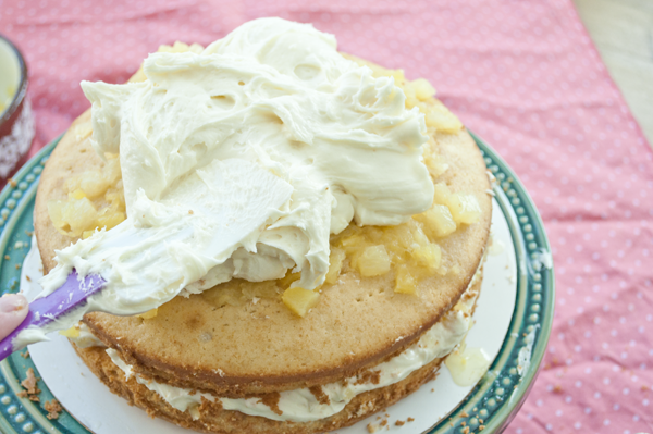 Elvis Cake with pineapple and cream cheese frosting