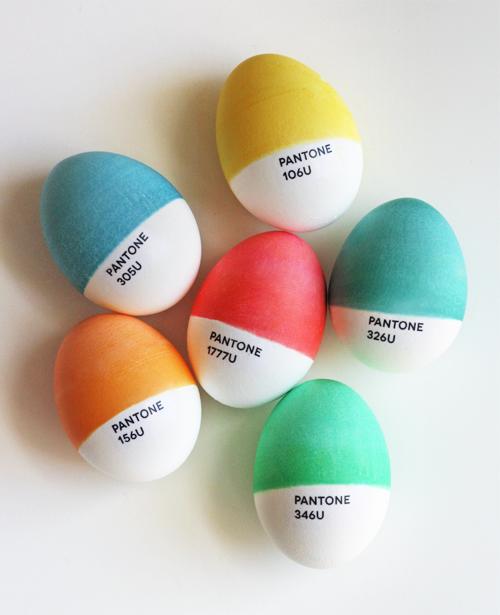 Pantone Easter Eggs