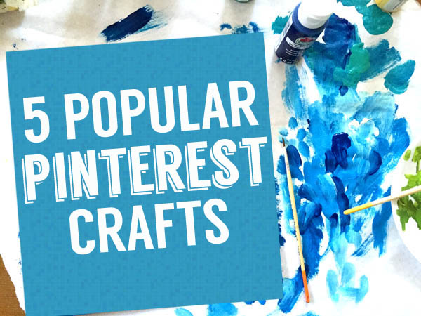 5 popular pinterest crafts from Clumsy Crafter