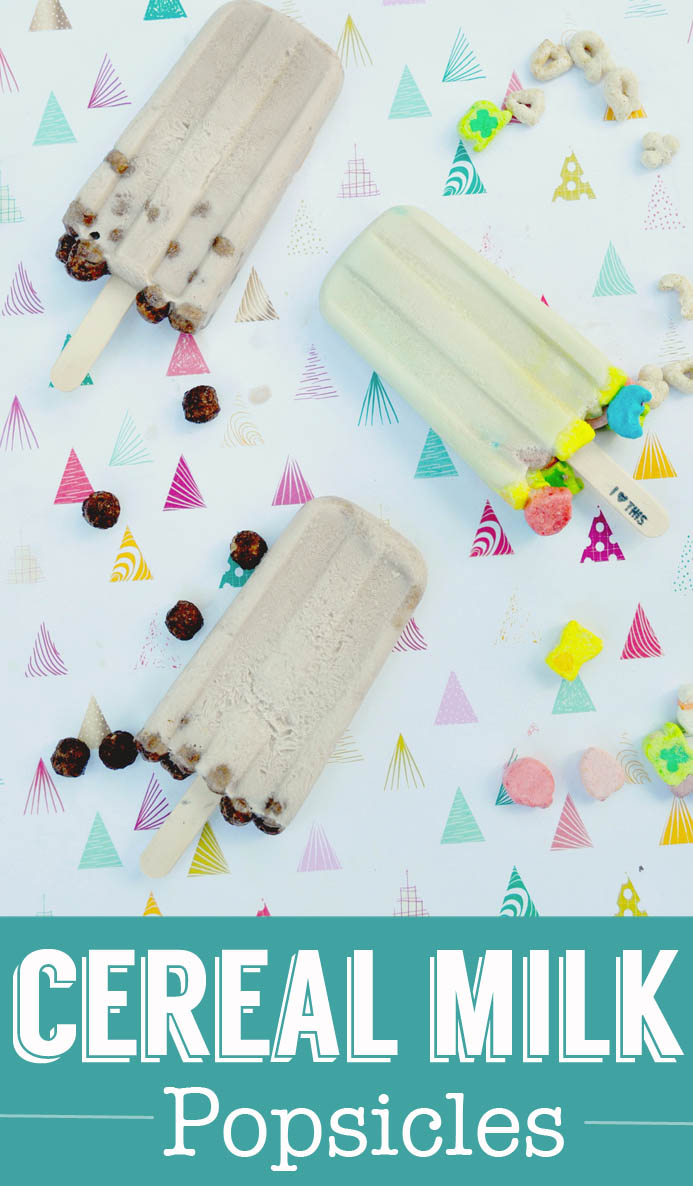 cereal milk popsicles from ClumsyCrafter