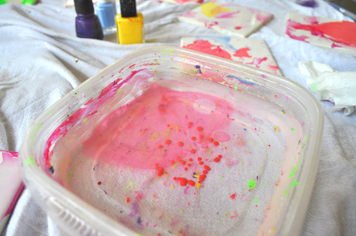 water and nail polish - easy craft