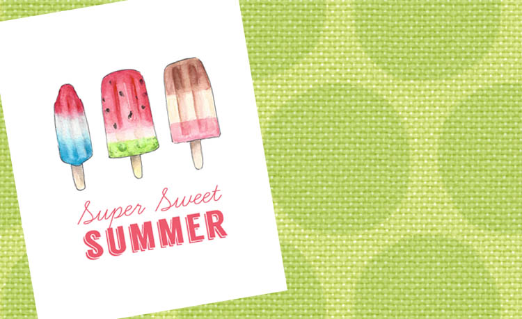 Free Summer Popsicle Printable