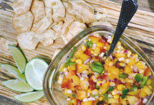 Lightly Roasted Peach and Corn Salsa – From Texas, With Love.