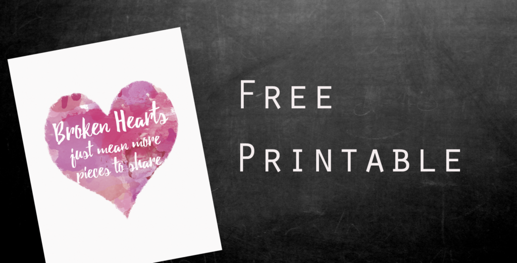broken heart free printabe