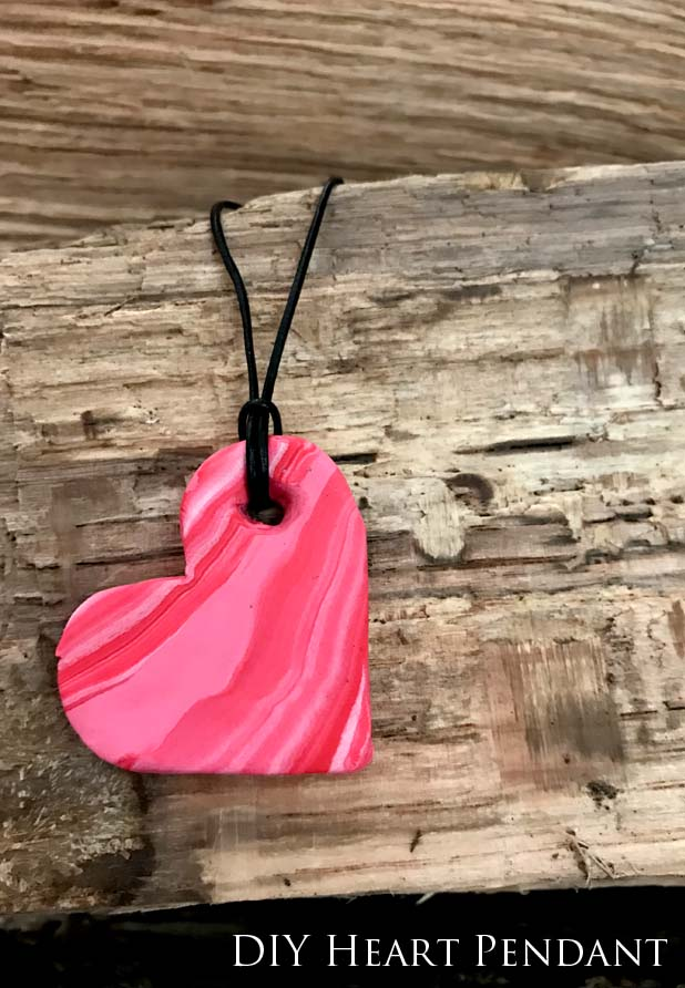 Easy Heart Pendant | How to Marble Polymer Clay | Polymer Clay Necklace Tutorial