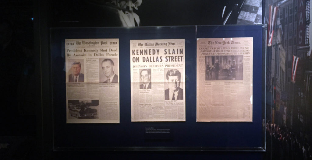 Lyndon B Johnson Presidential Library visit Kennedy
